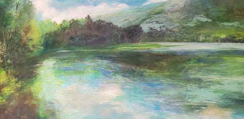 No Wind No Rain 20x40 oil on canvas by Catherine Wagner Minnery