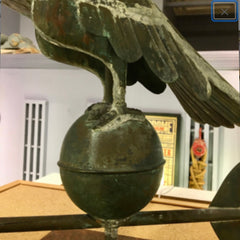 Antique Copper Eagle Weathervane/ sculpture