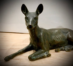 Antique Vienna Bronze Deer/Fawn Sculpture