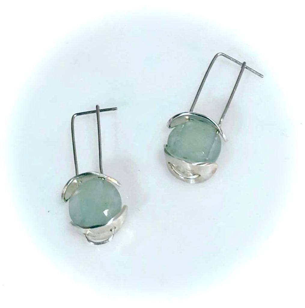 Sterling and Aquamarine Earrings