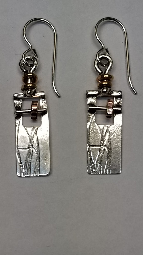 Take a stand and 'Love what adorns you' Sterling and Copper Earrings