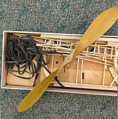 Extremely Rare Antique Wood Airplane Model Kit