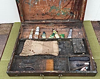 Antique Artists Paint Box