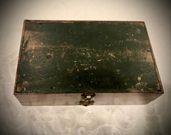Late 19th Century Antique Mahogany Box with Bronze Handle