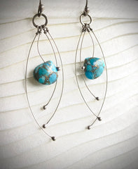 Turquoise and sterling earrings