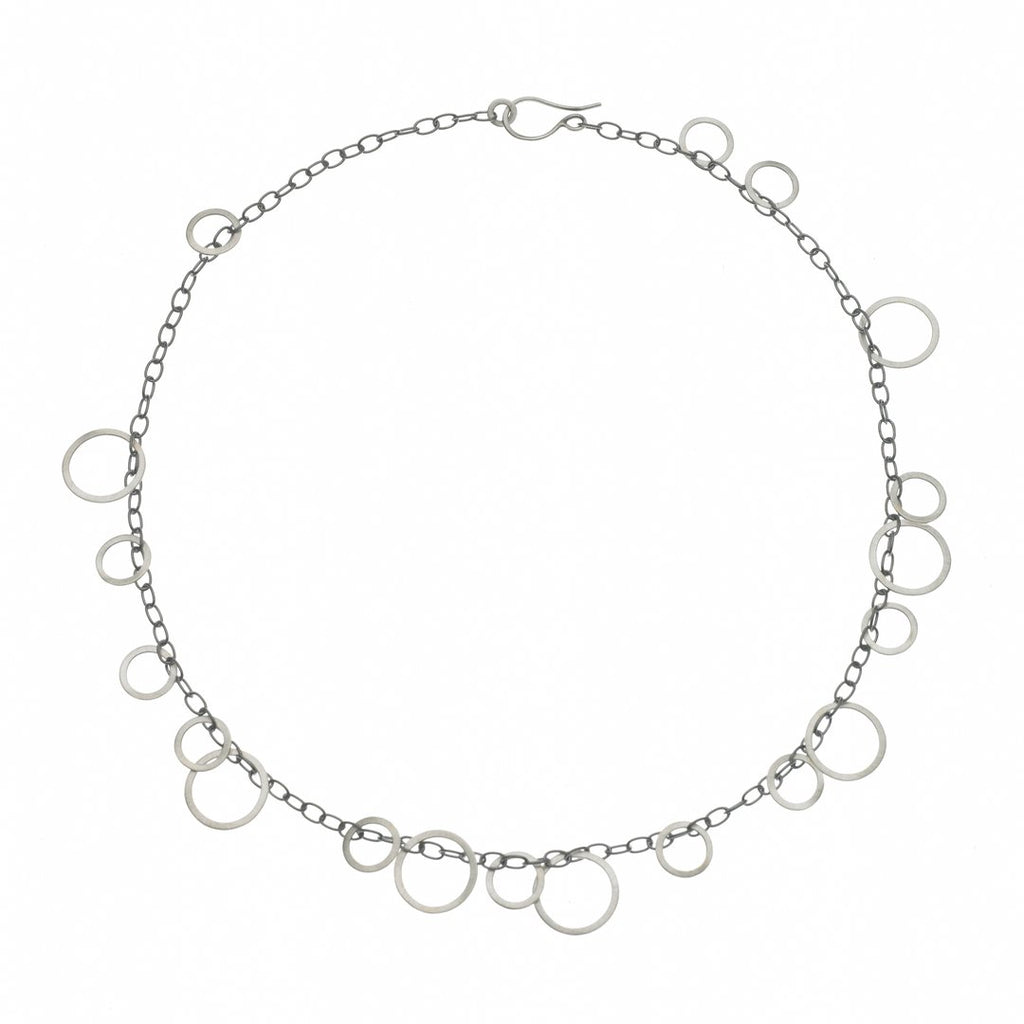 Circle Game Sterling Necklace