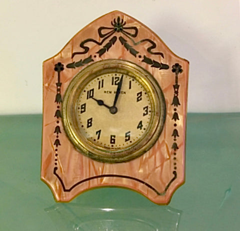Art Deco New Haven 1920's Cellulose Clock