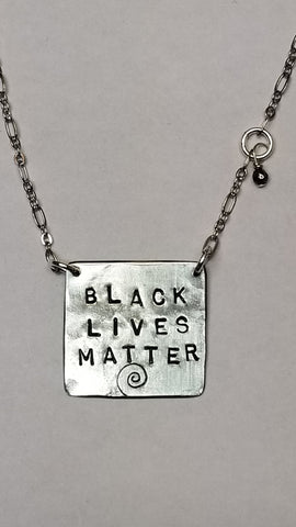 Black Lives Matter sterling necklace
