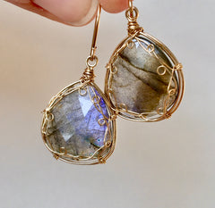 Labradorite and 14KGF Earrings