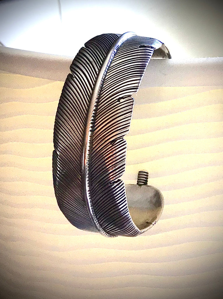 Navajo Sterling Feather Cuff