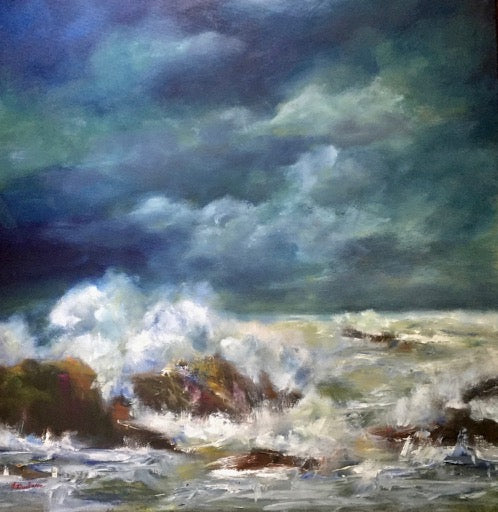 """The Edge of the World"" Oil on Canvas by Mireille Duchesne"