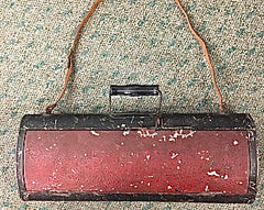 Antique Couriers Locking Metal  Bag/box
