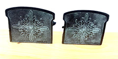 Antique Retriever/Setter Bronzed Bookends