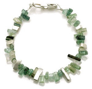 Handmade sterling and tourmaline bracelet by Philippa Roberts
