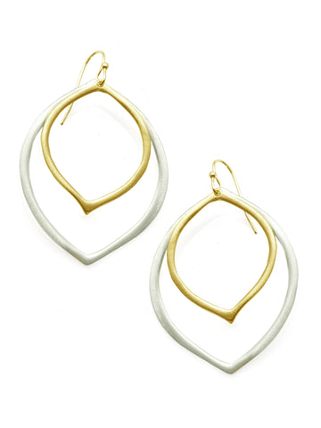 Double Petal Sterling & Vermeil Earring