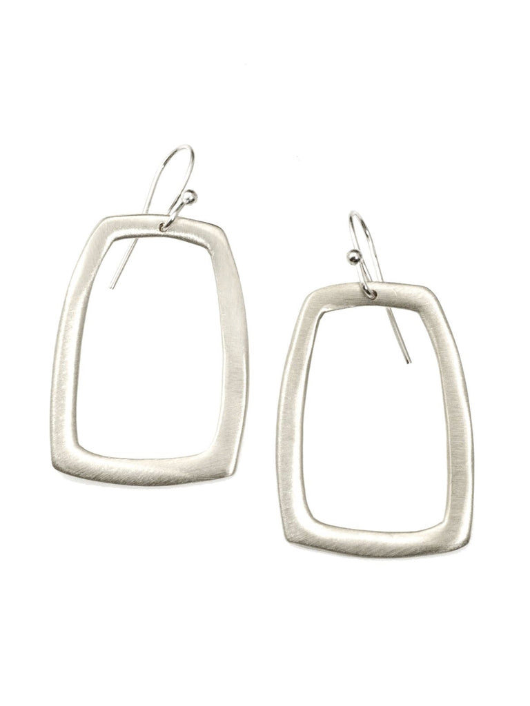 Large Rectangle Earring in Sterling