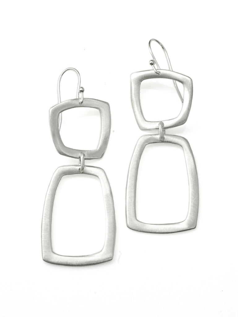 Large Square & Rectangle Earrings in Sterling