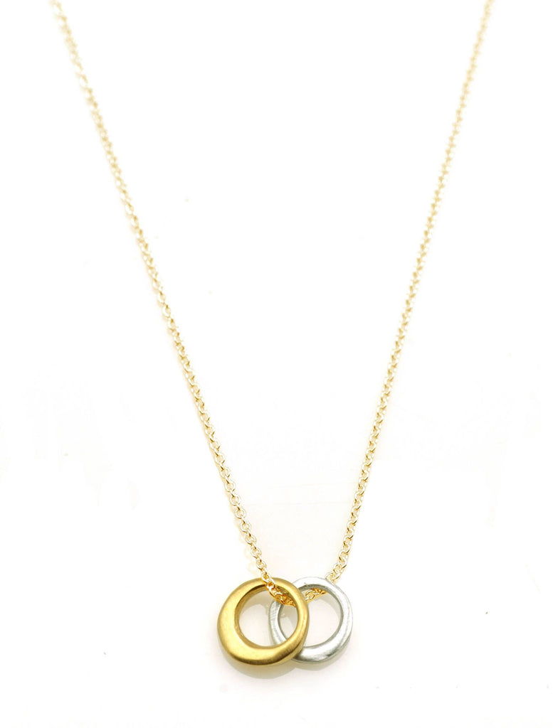 Two Little Circles Necklace in Sterling & Vermeil