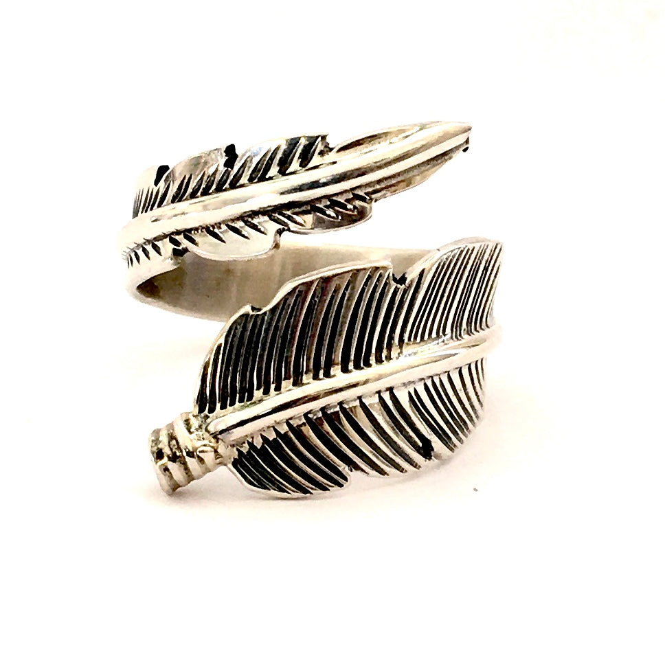 Navajo Sterling Silver Feather Ring