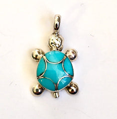 Navajo Sterling & Turquoise Pendant