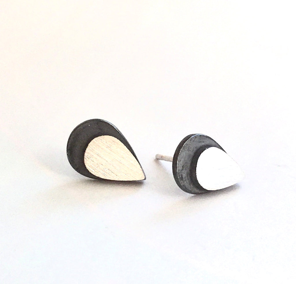 Eclipse Teardrop Sterling Earring