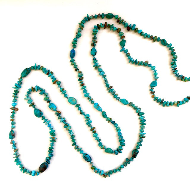 "59"" Long Handmade Turquoise Necklace"