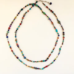 "50"" Long Handmade Semiprecious Necklace"