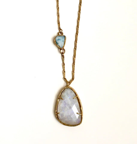 Brass & Moonstone Necklace