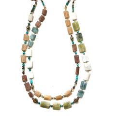 Assorted Stones Double-Strand Necklace