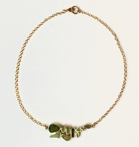 "Bronze ""Balance"" Necklace in Greens by David Urso"