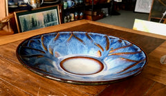 Ceramic Lotus Carved Serving Platter