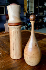 Handcrafted  Wood Vessel w/ Lid