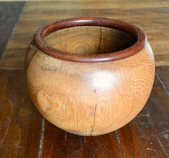 Hand Turned Gambrel Oak Bowl