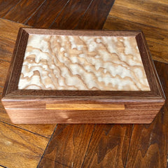 "Hardwood ""Safari"" Jewelry/Valet Box"