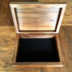 """Perfect Union"" Walnut Jewelry/Valet Box w/ Pewter Detail"