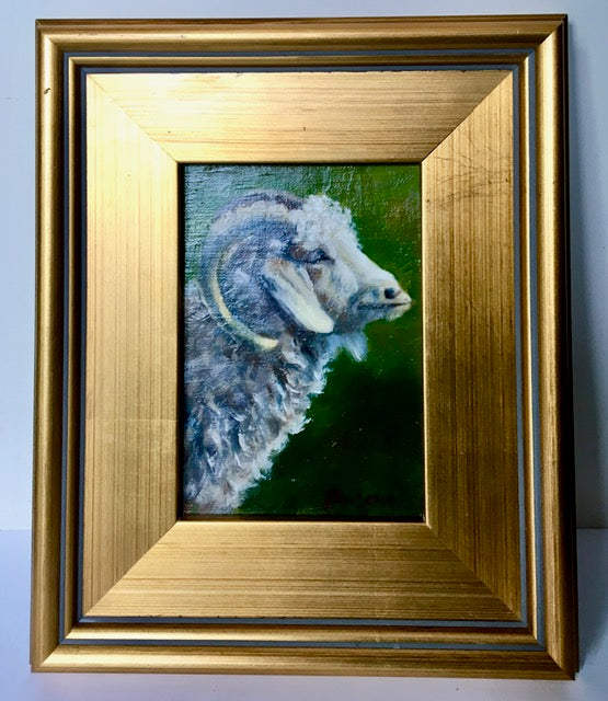 "Oil on Canvas ""Hannibal"" Ram by Mireille Duchesne"