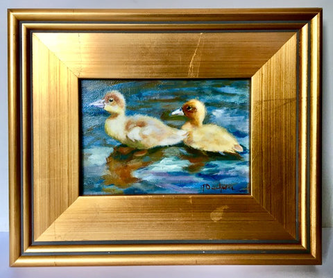 "Oil on Canvas ""Two Ducklings"" by Mireille Duchesne"