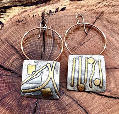 Handmade Sculptural Earrings
