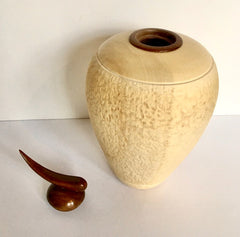 Bleached Maple Hollow Wooden Vessel by Rich Detrano