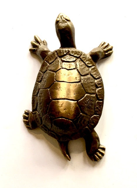 Mini Bronze Turtle Sculpture