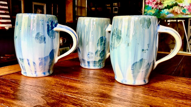Bill Campbell Ceramic Blue/Green Mugs