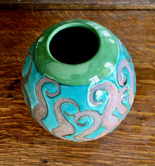 Ceramic one-of-a-kind  Squiggle Vase