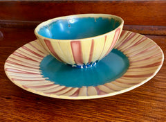 Liz Kinder Sunflower Bowl & Plate