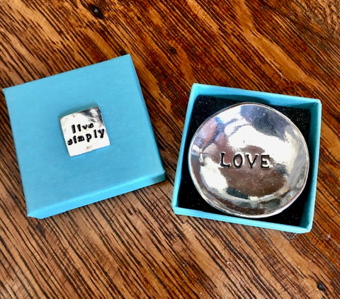 "Pewter ""Love"" Trinket Dish"