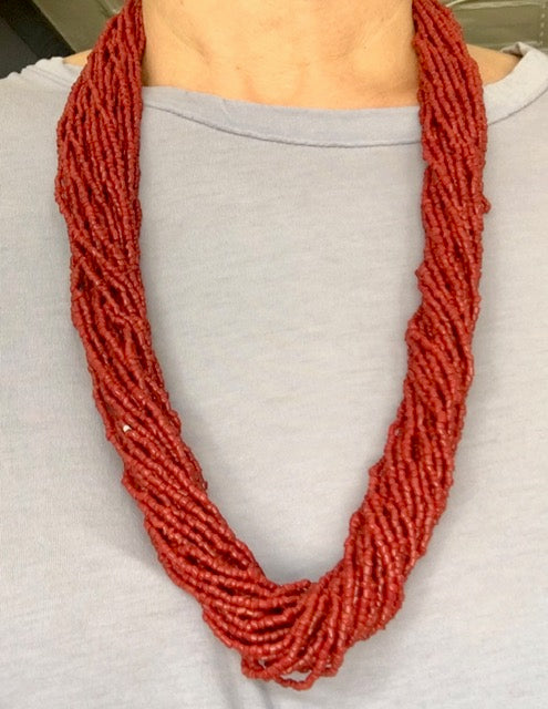 Vintage Natural Red Coral Necklace