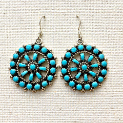 Navajo Sterling & Turquoise Earrings