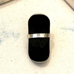 Sterling Hammered Textured Ring