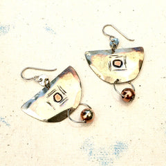 Sterling Semi-Circle Earrings