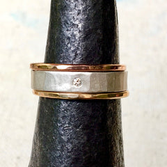 3-Stack Round Diamond & Mixed Metal Ring Set