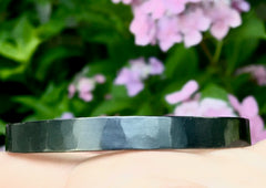 Square Bangle in Oxidized Sterling